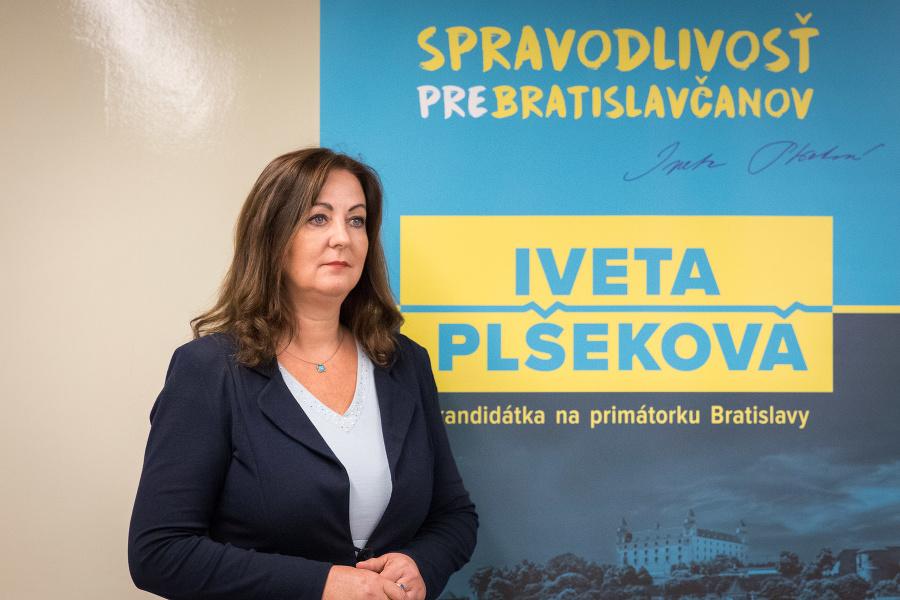 Viceprimátorka Plšeková bude kandidovať za primátorku Bratislavy