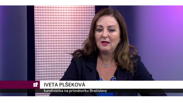 Iveta Plšeková v televízii Bratislava
